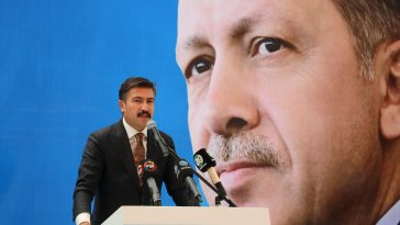 """AK Parti'li Özkan: """"18 yıla sığdırdığımız hizmetler yüz yılda yapılamayacak hizmetlerdi"""" 18 yilda yaptiklarimiz 100 yilda yapilamaz 2"""