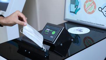 DEÜ'de atık maske ve eldivenlerin güvenli şekilde toplanmasını sağlayan cihazın ilk üretimi yapıldı 20200904 2 44200226 57904549 Web