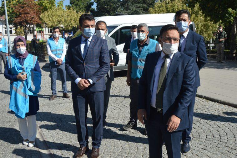 Konya, Aksaray, Karaman ve Afyonkarahisar'da Kovid-19 tedbirleri denetimi yapıldı konya da okullarda kovid 19 denetimi 4