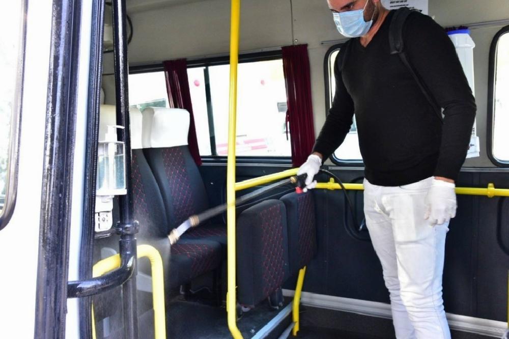 İncirliova'da dolmuşlar dezenfekte edildi incirliovada dolmuslar dezenfekte edildi hFZnIiiR