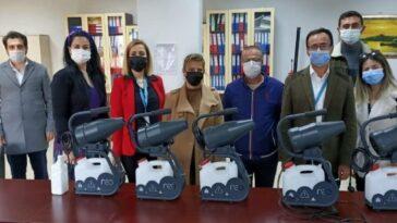 Söke Ak Parti'den, Devlet Hastanesi'ne dezenfektan makinesi soke ak partiden devlet hastanesine dezenfektan makinesi gVUDPPut