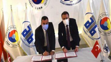 Aydın Ticaret Borsası ve Halk Bank arasında finansman anlaşması imzalandı aydin ticaret borsasi ve halk bank arasinda finansman anlasmasi imzalandi 4MZMzzzT